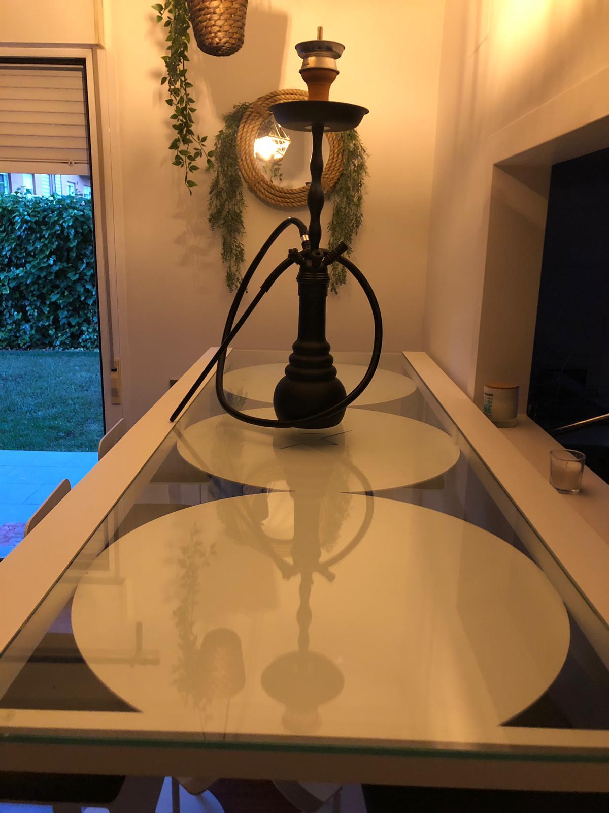 mesa y cachimba minimal